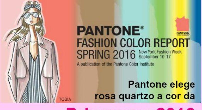 Pantone elege rosa quartzo a cor da Primavera 2016