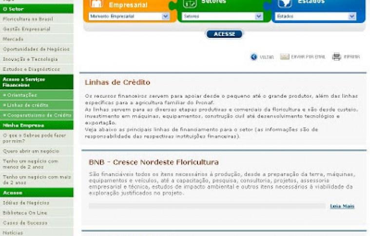 O Site de Floricultura está com novos conteúdos sobre Acesso a Serviços Financeiros