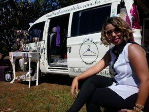 Lili Brasil, que inovou e abriu uma boutique móvel em Brasília (DF).