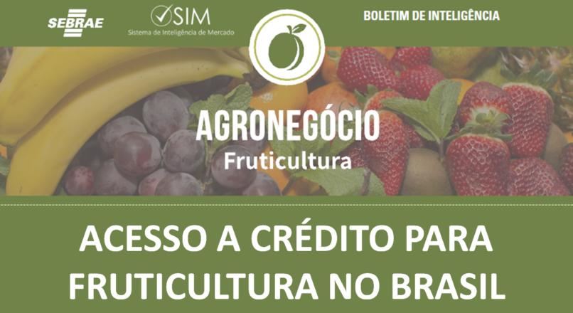 Boletim – Acesso a crédito para fruticultura no Brasil