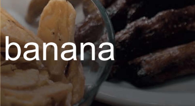 O processo produtivo da banana