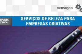 Boletim – Serviços de beleza para empresas criativas