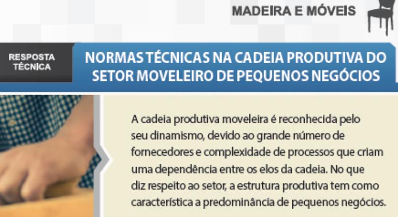 Boletim- Normas Técnicas na Cadeia Produtiva do Setor Moveleiro de Pequenos Negócios