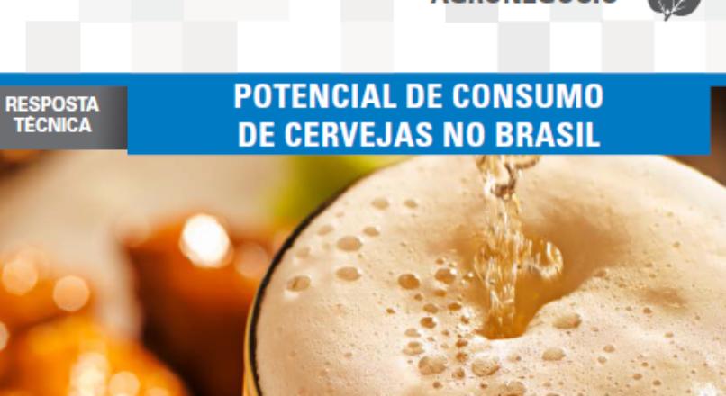 Boletim- Potencial de consumo de cervejas no Brasil
