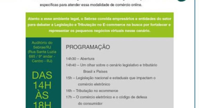 Participe do 1º Encontro de Legislação e Tributação no Ecommerce – Rio de Janeiro
