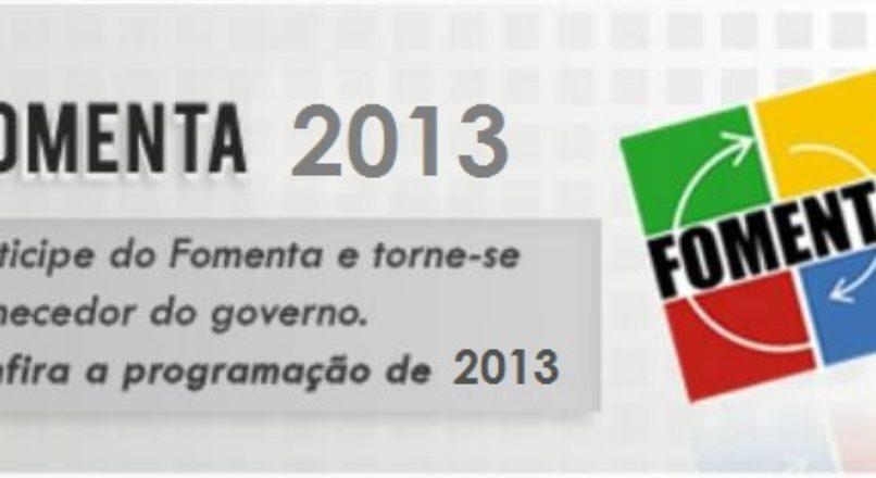 Inscrições para o Fomenta 2013 estão abertas