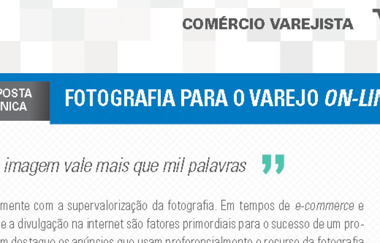 Boletim- Fotografia para o varejo on-line