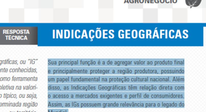 Boletim- Indicações geográficas