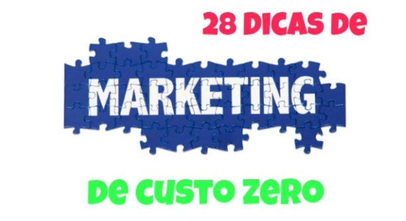28 Dicas de marketing de custo zero