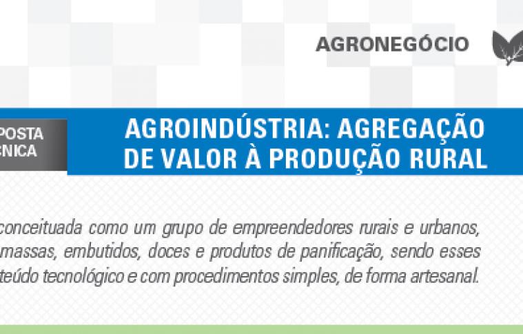 Boletim- Agroindústria: Agregação de valor à produção rural