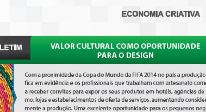 Boletim- Valor Cultural como oportunidade para o design