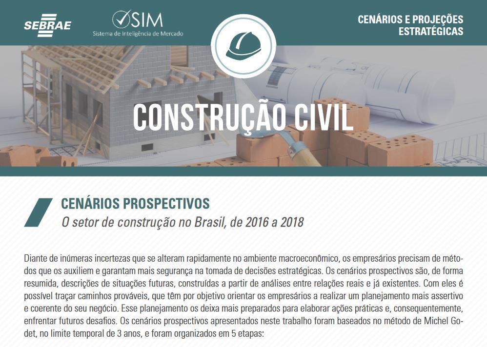CENARIO DE CONSTRUÇÃO CIVIL 2018