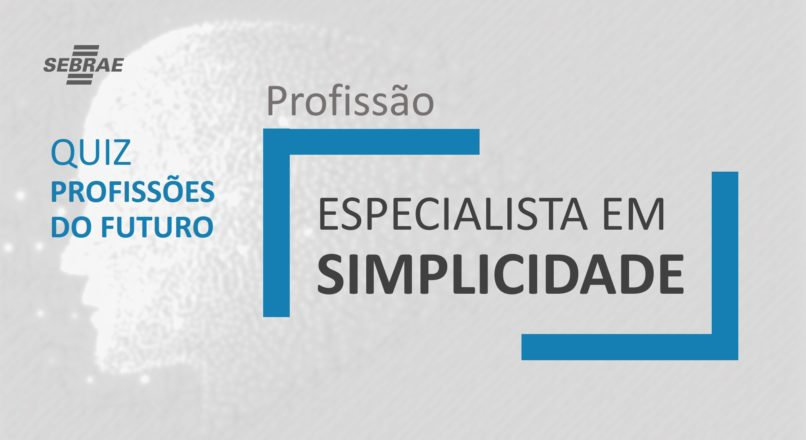 Especialista em simplicidade – O que faz?