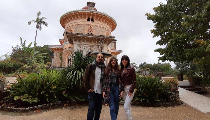 Familia Tatagiba no Palácio de Monserrate