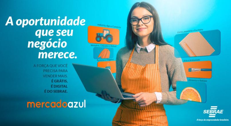 Como anunciar sua empresa no Mercado Azul do Sebrae?