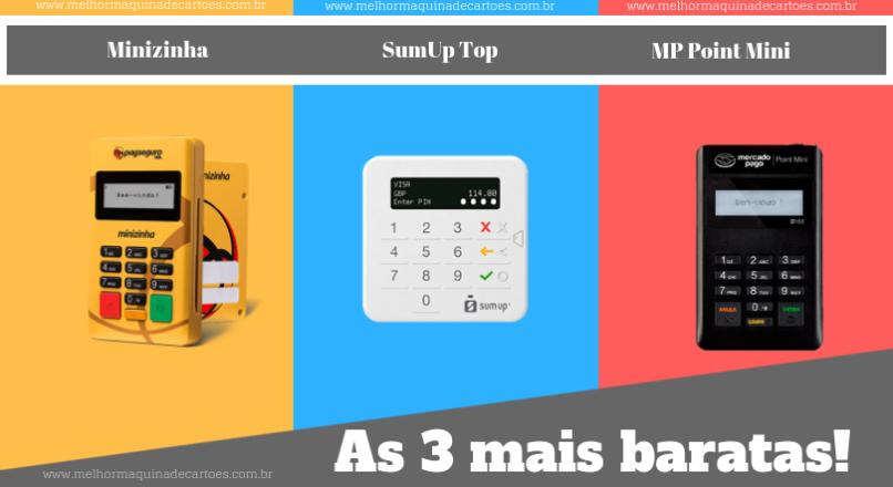 3 máquinas de cartões mais baratas para ajudar a superar a crise