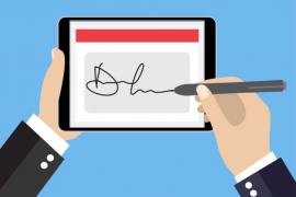 Como funciona uma assinatura digital para um contrato?