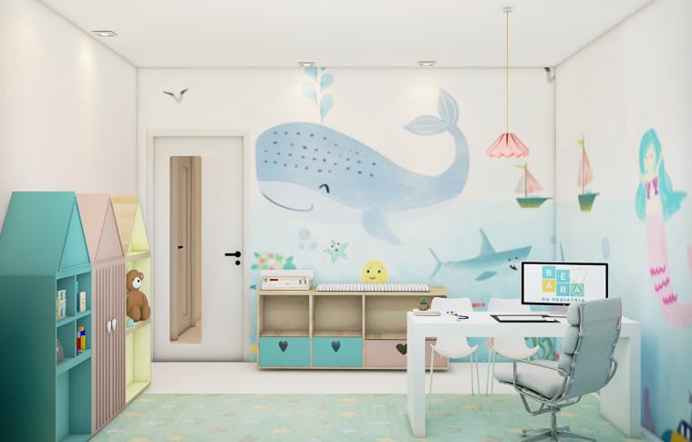 Consultório infantil personalizado contribui para deixar ambiente mais acolhedor aos pequenos pacientes